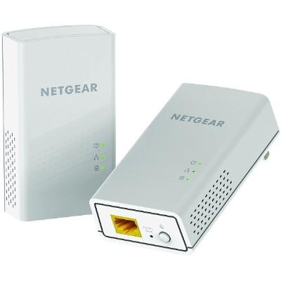 NetGear PL1200 100PAS Powerline PL1200 Bridge GigE HomePlug AV HPAV 2.0 wall pluggable