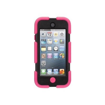 Griffin GB35695-3 Survivor - Protective cover back cover for player - silicone  polycarbonate - black  pink - for Apple iPod touch (5G)
