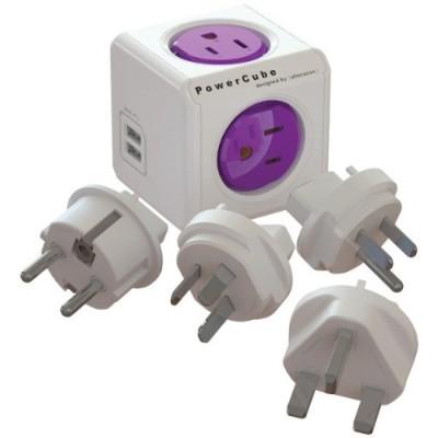Allocacoc 1910/USRU4P 4-Outet PowerCube ReWirable Plug with 2 USB Ports
