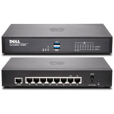 SonicWall 01-SSC-0211 TZ500 Network Security Firewall - Security appliance - 8 ports - 10Mb LAN  100Mb LAN  GigE