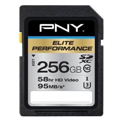 PNY P-SDX256U395-GE 256GB Elite Performance UHS-1 SDXC Memory Card U3  Class 10