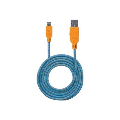 Manhattan 394024 POP - USB cable - Micro-USB Type B (M) to USB (M) - USB 2.0 - 3.3 ft - molded - blue  orange