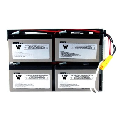 V7 RBC24-V7 RBC24- - UPS battery - 1 x lead acid - for P/N: DLA1500RM2U  DLA1500RMI2U  SU1400R2IBX135  SUA1500R2X122  SUA1500R2X180  SUA1500R2X93