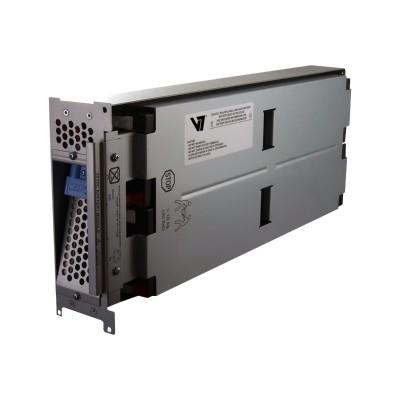 V7 RBC43-V7 RBC43- - UPS battery - 1 x lead acid - for P/N: SMT2200RMI2U  SMT2200RMUS  SMT3000RM2U  SMT3000RMI2U  SMT3000RMT2U  SMT3000RMUS