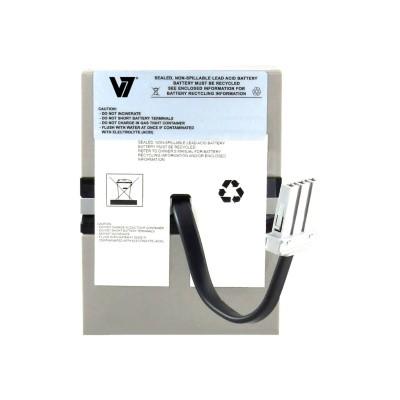 V7 RBC33-V7 RBC33- - UPS battery - 1 x lead acid - for P/N: BR1100CI  BR1100CI-As  BR1100CI-IN  BR650CI  BR650CI-RS  BT1500  BT1500BP  SN1000