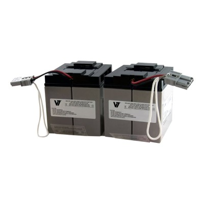 V7 RBC55-V7 RBC55- - UPS battery - 1 x lead acid - for P/N: DLA2200  SMT2200  SMT2200I  SMT2200US  SMT3000  SMT3000I  SUA2200UXICH  SUA3000UXICH