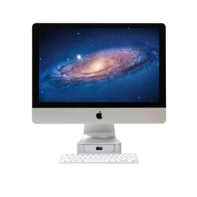 Rain Design 10043 mBase Elevating Stand and pull out drawer for 21.5 iMac - Aluminum