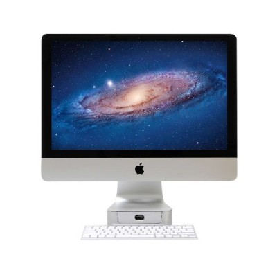 Rain Design 10044 mBase Elevating Stand and pull out drawer for 27 iMac - Aluminum
