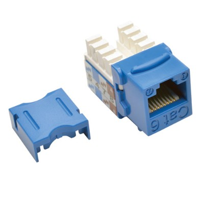 TrippLite N238-025-BL Cat6/Cat5e 110 Style Punch Down Keystone Jack - Blue  25-Pack