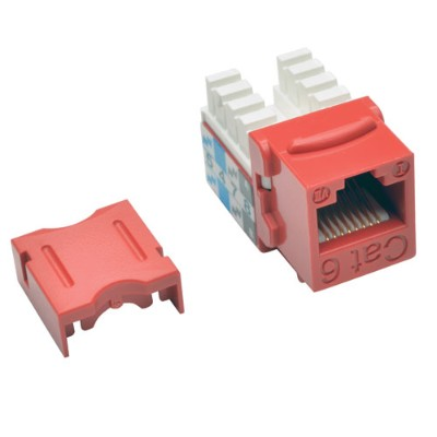 TrippLite N238-025-RD Cat6/Cat5e 110 Style Punch Down Keystone Jack - Red  25-Pack