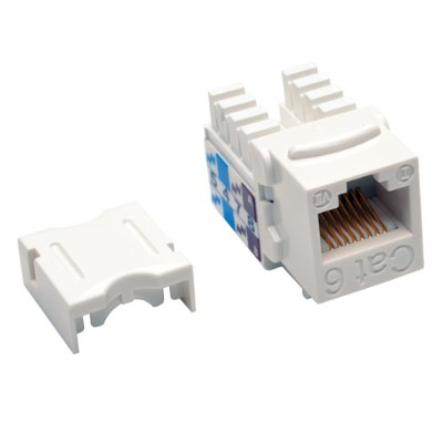 TrippLite N238-025-WH Cat6/Cat5e 110 Style Punch Down Keystone Jack - White  25-Pack