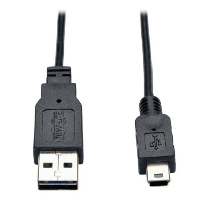 TrippLite UR022-006-SLIM Universal Reversible USB 2.0 Hi-Speed Super Slim Cable (Reversible A to B M/M)  6-ft.