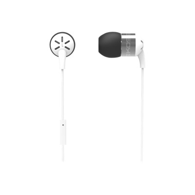 Koss Corporation KEB25I WHITE Form-Fitting  Aluminum  In-Ear Headphones with Microphone - White