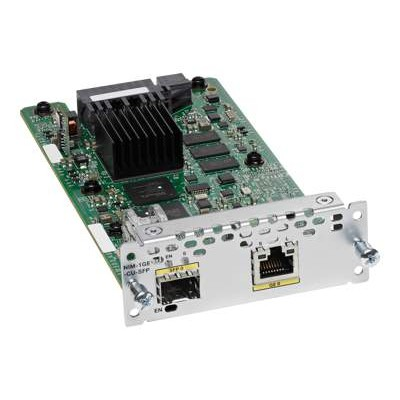 Cisco NIM-1GE-CU-SFP= WAN Network Interface Module - Expansion module - combo Gigabit SFP x 1