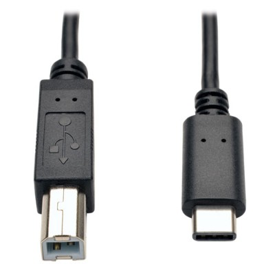 TrippLite U040-006 USB 2.0 Hi-Speed Cable  USB Type-B Male to USB Type-C (USB-C) Male  6-ft.