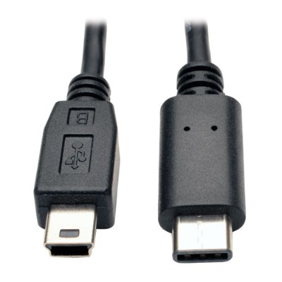 TrippLite U040-006-MINI USB 2.0 Hi-Speed Cable  USB 5-Pin Mini-B Male to USB Type-C (USB-C) Male  6-ft.