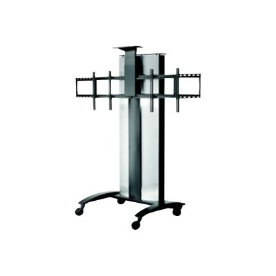 Peerless SR555E V SmartMount SR555E - Cart for 2 LCD / plasma panels / video conferencing system - lockable - textured black powder - screen size: 40-55