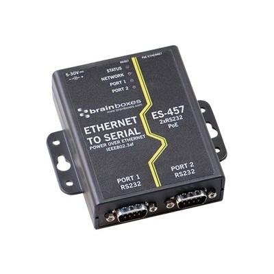Brain Boxes ES-457 ES-457 - Device server - 2 ports - 100Mb LAN  RS-232