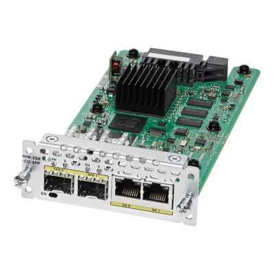 Cisco NIM-2GE-CU-SFP= WAN Network Interface Module - Expansion module - combo Gigabit SFP x 2 - for  4451-X