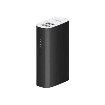 Belkin F8M979BTBLK MIXIT Power Pack 4000 - Power bank 4000 mAh - 2 output connectors (USB (power only)) - on cable: Micro-USB - black 13558051