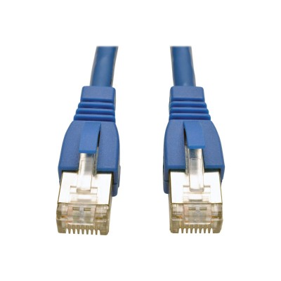 TrippLite N262-007-BL Augmented Cat6 (Cat6a) Shielded (STP) Snagless 10G Certified Patch Cable  (RJ45 M/M) - Blue  7ft