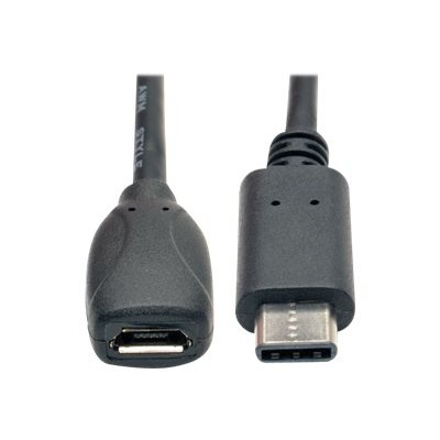 TrippLite U040-06N-MIC-F USB 2.0 Hi-Speed Adapter Cable  USB Type-C (USB-C) Male to USB Micro-B Female)  6-in.