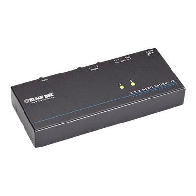 Black Box VSP-HDMI1X2-4K 4K HDMI Splitter 1 x 2 - Video/audio splitter - 2 x HDMI - desktop  rack-mountable