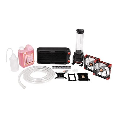 ThermalTake CL-W063-CA00BL-A Pacific RL240 - Liquid cooling system kit - nickel plated copper base - 120 mm