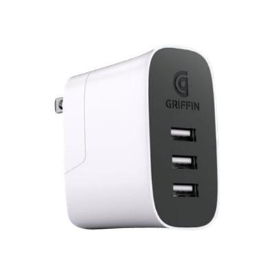 Griffin NA40468 PowerBlock Universal - Power adapter - 30 Watt - 3 output connectors (USB)