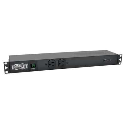 TrippLite PDUMH15-ISO PDU Metered + Isobar Horizontal 1.44kW 120V 15A (14 5-15R) 5-15P 15ft Cord 1URM