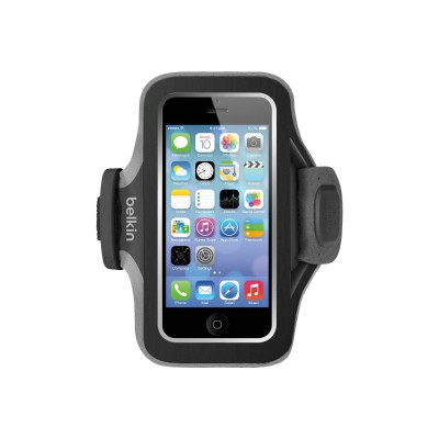 Belkin F8W299BTC00 Slim Fit Armband - Arm pack - blacktop gravel - for Apple iPhone 5 5c 5s