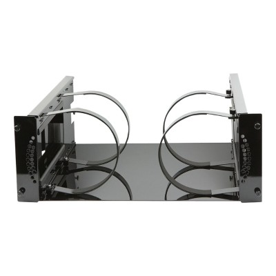 Rocstor Y10RMDL-01 Rocmount Pro-M RM-Dual - Rack shelf - high-gloss black - 4U - 19
