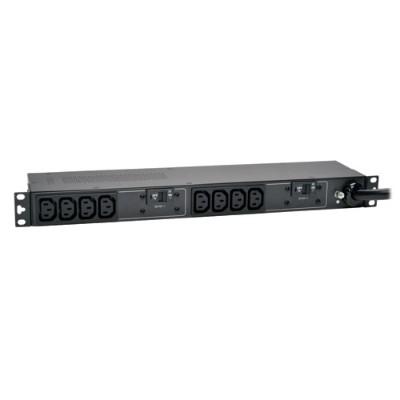 TrippLite PDUH30HV PDU Basic Horizontal 5/5.8kW 208/240V 30A (10 C13) L6-30P 12ft Cord 1URM
