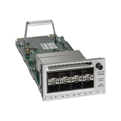 Cisco C3850-NM-8-10G= Expansion module - 10 Gigabit SFP+ / SFP (mini-GBIC) x 8 - for Catalyst 3850-12X48U-E  3850-12X48U-S  3850-24XS-E  3850-24XS-S  3850-24XU-