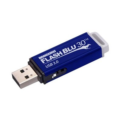 Kanguru Solutions ALK-FB30-256GB Flash Blu3 - USB flash drive - 256 GB - USB 3.0 - blue