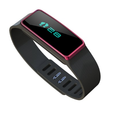 AdventureLabs IR113B-RED Red Smart Health Fitness Tracker IR113. Water Resistant Motivation and Fitness Device