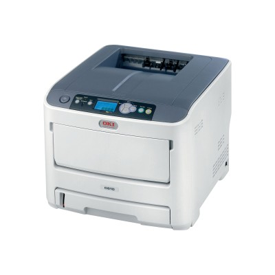 Oki 62446701 C610n - Printer - color - LED - Legal - 1200 x 600 dpi - up to 34 ppm (mono) / up to 32 ppm (color) - capacity: 400 sheets - USB 2.0  LAN