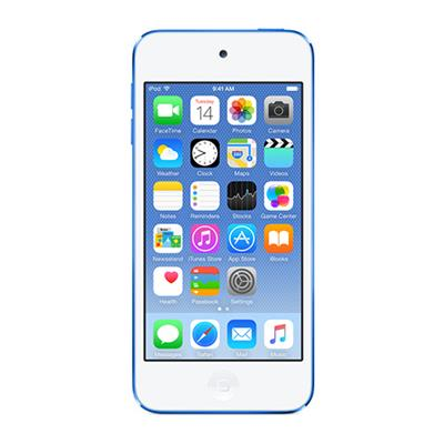 Apple MKH22LL/A Bundle New iPod touch 16GB Blue (6th Generation) with Engraving