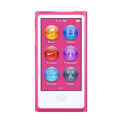 Apple MKMV2LL/A Bundle iPod nano 16GB Pink (7th Generation) with Engraving