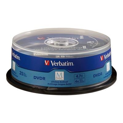 Verbatim 98908 M-Disc - 25 x DVD-R - 4.7 GB 4x - spindle