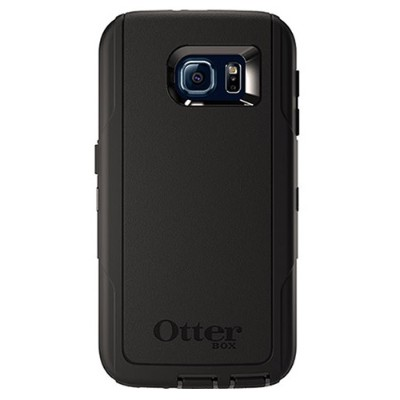 Otterbox 77-52026 Defender Series Samsung Galaxy S6 - ProPack Each - protective case for cell phone - polycarbonate  synthetic rubber - black - for Samsung Gala