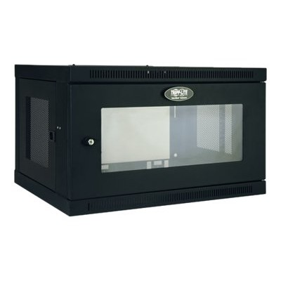 TrippLite SRW6UG 6U Wall Mount Rack Enclosure Cabinet Wallmount with Clear Acrylic Window 200lb Capacity