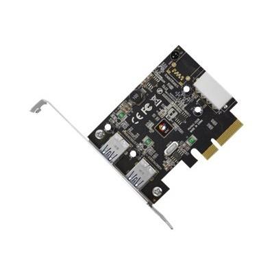 SIIG JU-P20912-S1 JU-P20912-S1 2-Port PCIe Host - USB adapter - PCIe 3.0 x4 - USB 3.1 x 2 - black