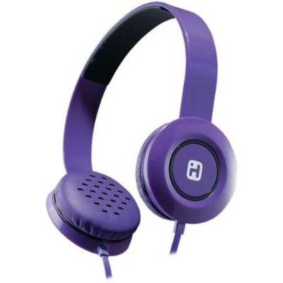 iHome IB35UBC iB35 Stereo Headphones with Flat Cable - Violet