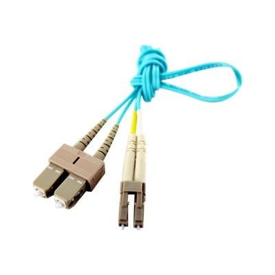 Axiom Memory LCSCB4PAS3-AX BENDnFLEX Silver - Network cable - SC multi-mode (M) to LC multi-mode (M) - 10 ft - fiber optic - 50 / 125 micron - OM4 - plenum