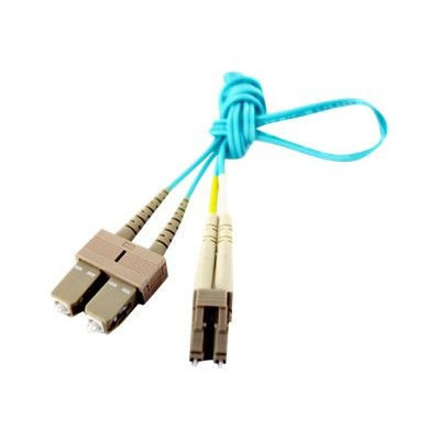 Axiom Memory LCSCB4PAS1-AX BENDnFLEX Silver - Patch cable - SC multi-mode (M) to LC multi-mode (M) - 3.3 ft - fiber optic - 50 / 125 micron - OM4 - plenum