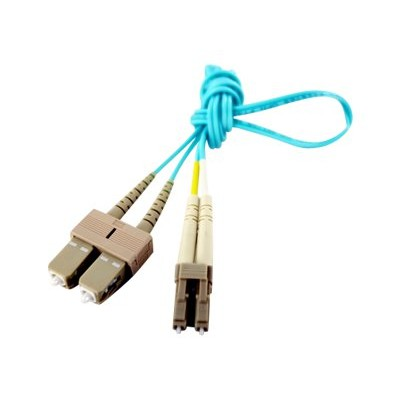 Axiom Memory LCSCB4PAS5-AX BENDnFLEX Silver - Patch cable - SC multi-mode (M) to LC multi-mode (M) - 16.4 ft - fiber optic - 50 / 125 micron - OM4 - plenum