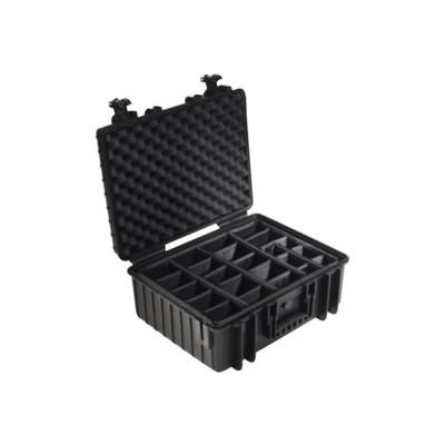 B&W International 6000/B/RPD B&W outdoor.cases Type 6000 - Hard case - polypropylene - black