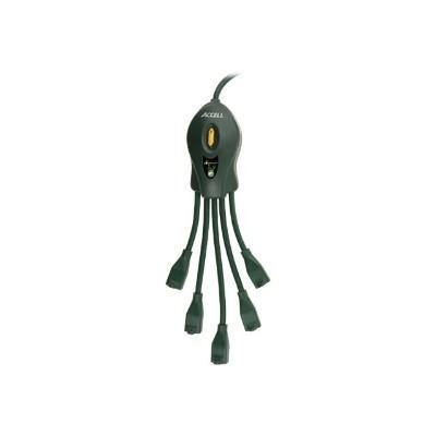 Accell D080B-026K PowerSquid Outlet Multiplier - Power strip - AC 125 V - 1875 Watt - output connectors: 5 - 15 ft