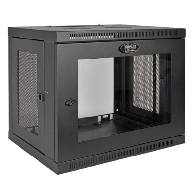 TrippLite SRW9UG 9U Wall Mount Rack Enclosure Cabinet Wallmount with Clear Acrylic Window 200lb Capacity